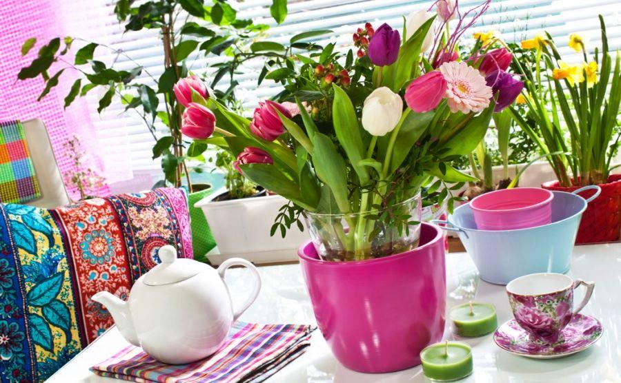 Букет цветов дома
